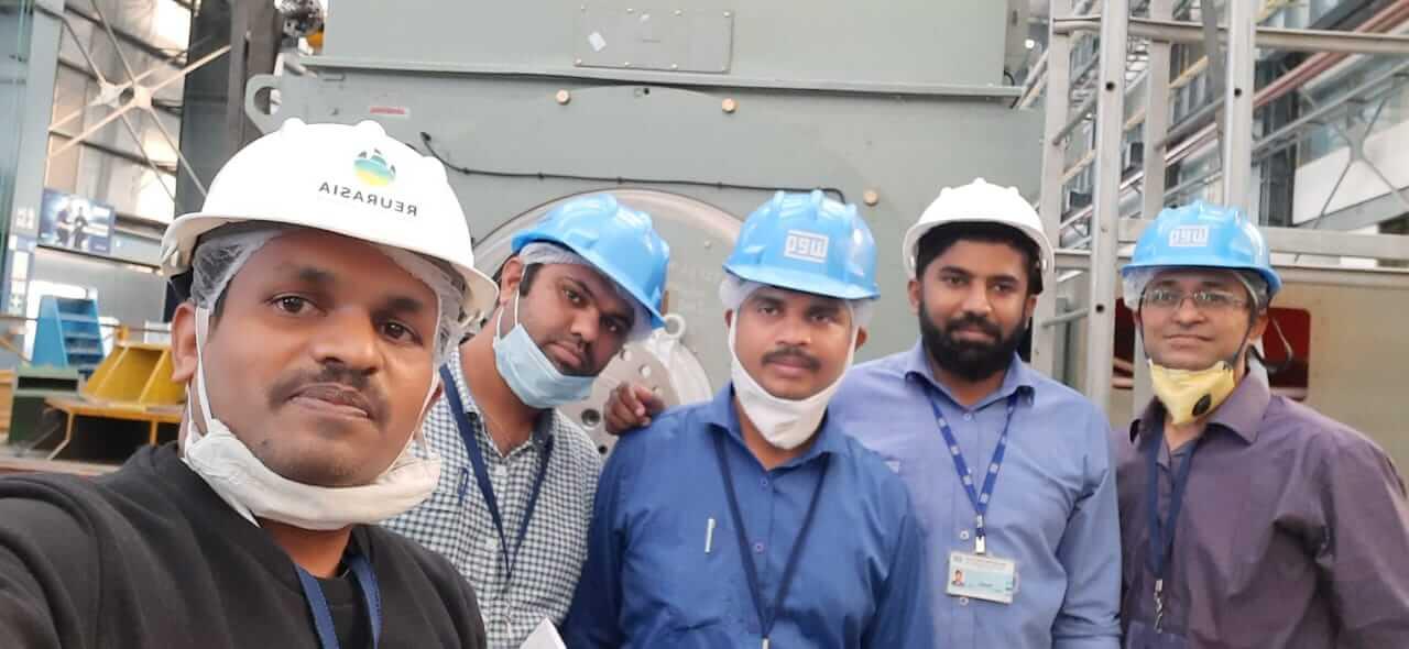 REURASIA team in Orient Cement Chittapur plant