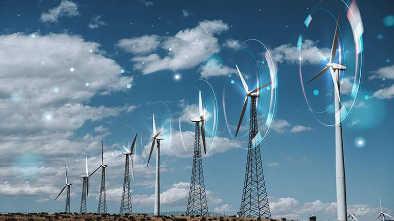 wind energy with wind turbines